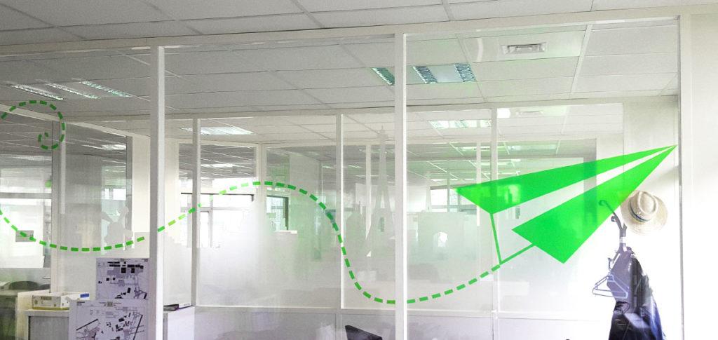 Vitrophanie pour décoration bureaux