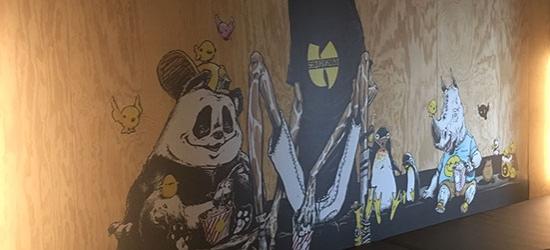 Décoration murale avec adhésif animalier pour hotel