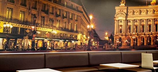 Décoration murale pour hotel avec thème Paris