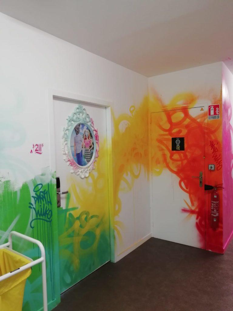 Décoration murale pour hotel au thème street art