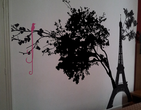 Décoration murale pour hotel au thème Paris