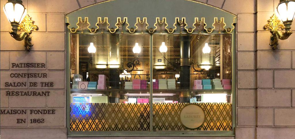 Vitrophanie pour vitrine magasin en couleur doré