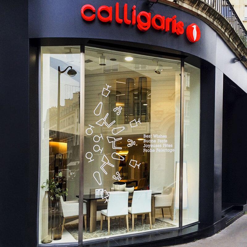 vitrophanie-vitrine-magasin-décoration-ameublement-calligaris-paristic